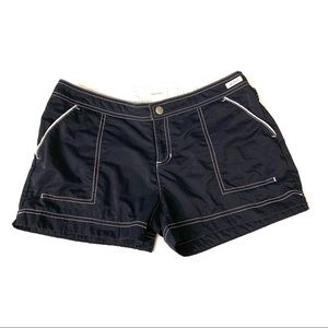 Nautica Women's Short Navy Blue Nylon size Small